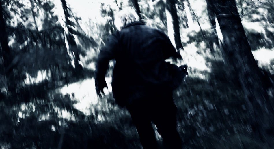 Fast forest chase scene